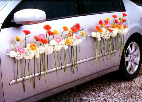 украшение цветами фото: